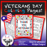 Veterans Day Coloring Pages!