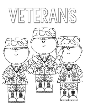 Veterans Day Coloring and Thank You Letters by Countless ...
