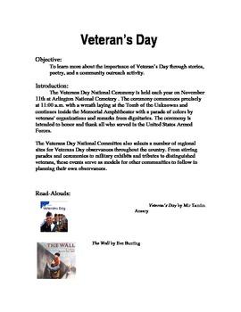 Veteran's Day Community Service Lesson Plan