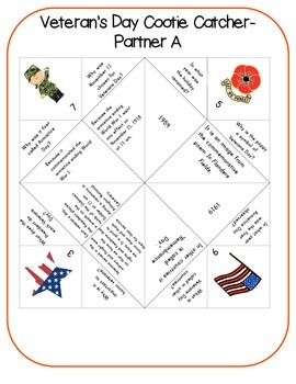 Veterans Day Cootie Catchers