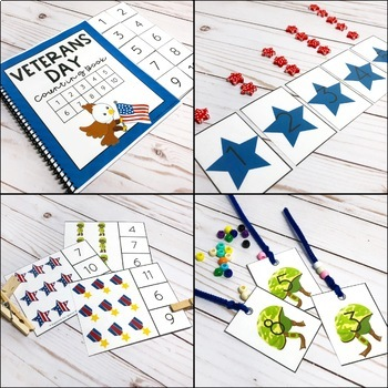 Veterans Day Counting Pack - Hands on Activities for Numbers 1-20
