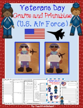 Veterans Day Craftivities Bundle Pack! (All 5 branches of Military!)