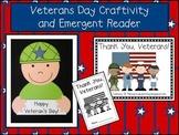 Veterans Day Craftivity & Emergent Reader Pack