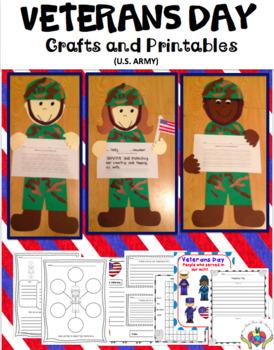 Veterans Day Craftivity & Printables (U.S. Army)