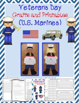 Veterans Day Craftivity (U.S. Marines)