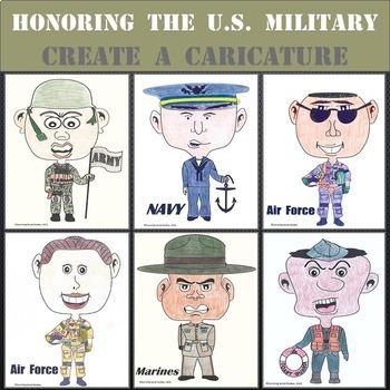 Veterans Day / Memorial Day Mini Art Project - Create A Caricature