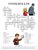 Veterans Day Crossword Puzzle (Color and BW versions)