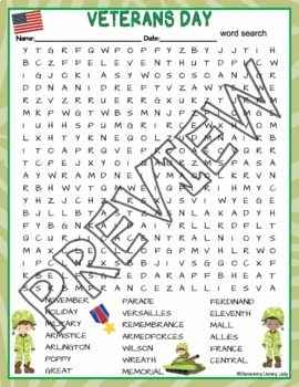 graphic about Veterans Day Word Search Printable titled Veterans Working day Things to do Crossword Puzzle and Term Glimpse Discover