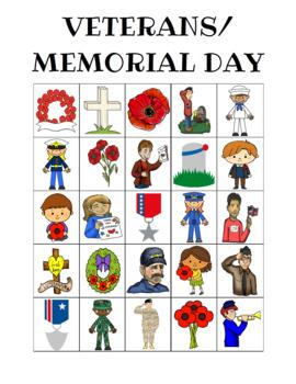 Veterans Day Bingo Custom Printable