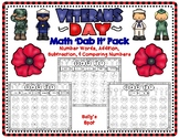 Veterans Day 'Dab It' Math Pack