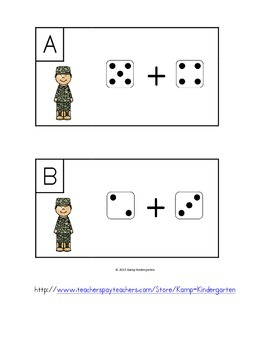 Veterans Day Dice Add the Room Sums to 10