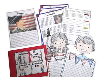 Veterans Day Differentiated Reading and Writing Activities