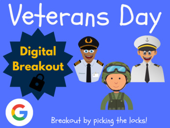 Veterans Day - Digital Breakout! (Escape Room, November, Brain Break)
