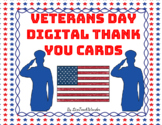 Veterans Day Digital Thank You Cards (Editable)