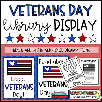 Veterans Day Display Signs and Bookmarks {FREEBIE}
