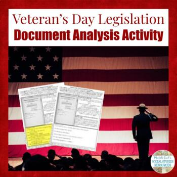 Veteran's Day Document Analysis Activity Homework