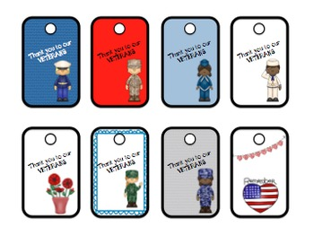 Veterans Day Dog Tag Craft and Writing