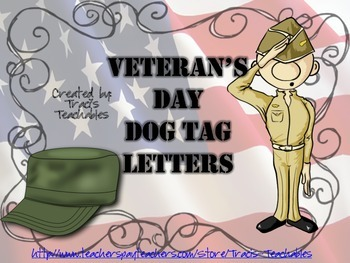 Veterans Day - Dog Tag Letters to Veterans