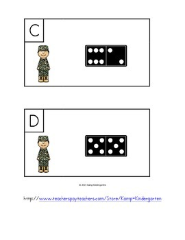 Veterans Day Domino Add the Room Sums to 10