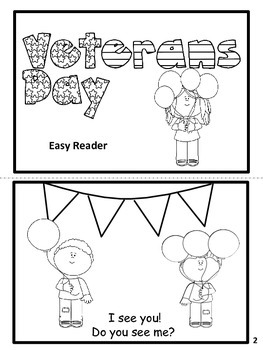 Veterans' Day Easy Reader