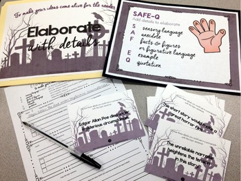 Edgar Allan Poe Writing Task Cards