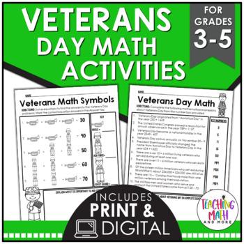 Veterans Day Elementary Math Activities