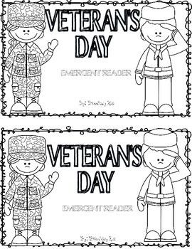 Veteran's Day Emergent Reader