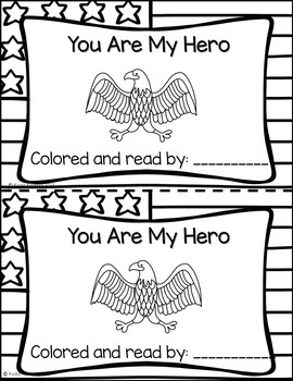 """Veterans Day Emergent Reader-""""You Are My Hero"""""""