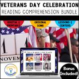 Veterans Day Emergent Reader Boom Cards First Grade   Dist