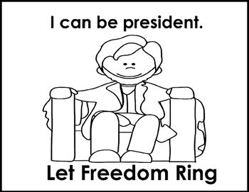 Veterans Day Emergent Reader I Can In America Let Freedom Ring