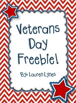 Veterans day teaching resources teachers pay teachers veterans day freebie fandeluxe Image collections