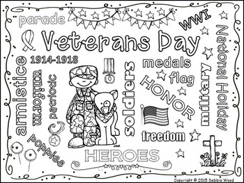 Veterans Day FREEBIE:  Vocabulary Word Art Fun