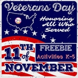 Veterans Day Activities FREE | Color Sight Words | Read Co