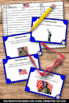 Veterans Day Task Cards, November Activities, Veterans Day Research Project