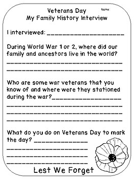 Veterans Day Family History Interview