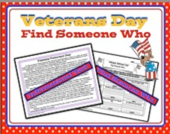 Veterans Day Find Someone Who