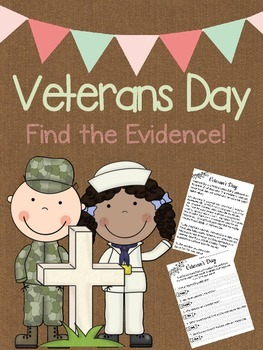 Veterans Day - Find the Evidence!