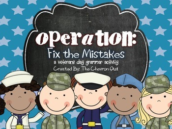 Veterans Day Fix the Mistakes Grammar Activity