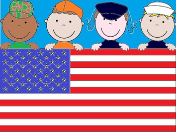 Veteran's Day Flag Coloring Display or Writing Page