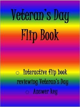 Veteran's Day Flip Book