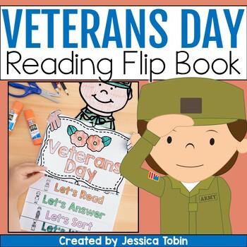 Veterans Day Activities- Reading Flip Book