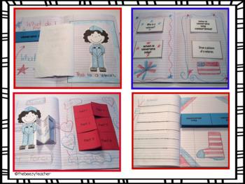 Veterans Day Flip Book Activities