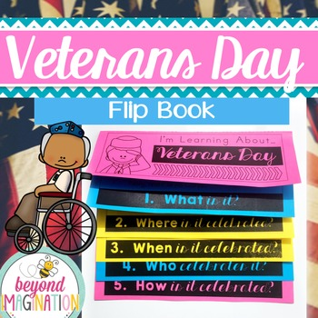 Veterans Day Flip Book | No Prep | No Fuss | No Scissors |