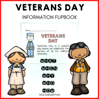 Veterans Day Flip Book perfect for little learners to explore why we celebrate