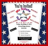 Veterans Day Flyer {EDITABLE}