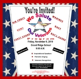 Veterans Day Flyer {EDITABLE}