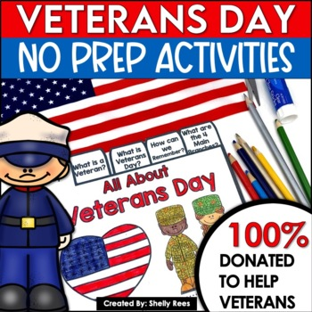 Veterans Day Activities And Flip Book By Shelly Rees Tpt