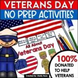 Veterans Day Activities and Flip Book