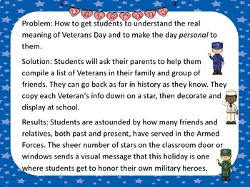 Veterans Day Activity