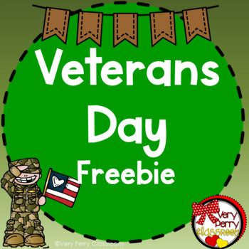 Veterans Day Vocabulary, Close Read, and Letter Freebie